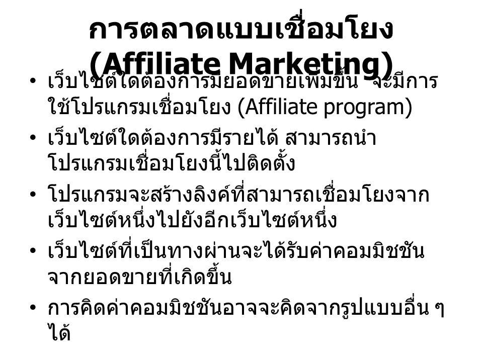 การตลาดแบบเชื่อมโยง (Affiliate Marketing)