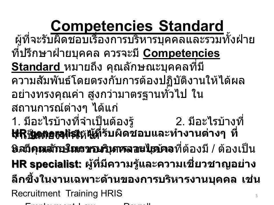 Competencies Standard