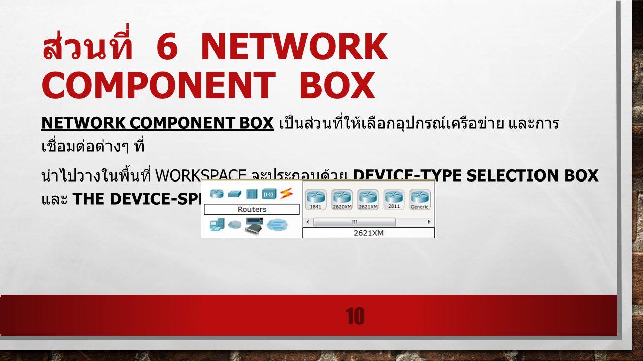 ส่วนที่ 6 network component box