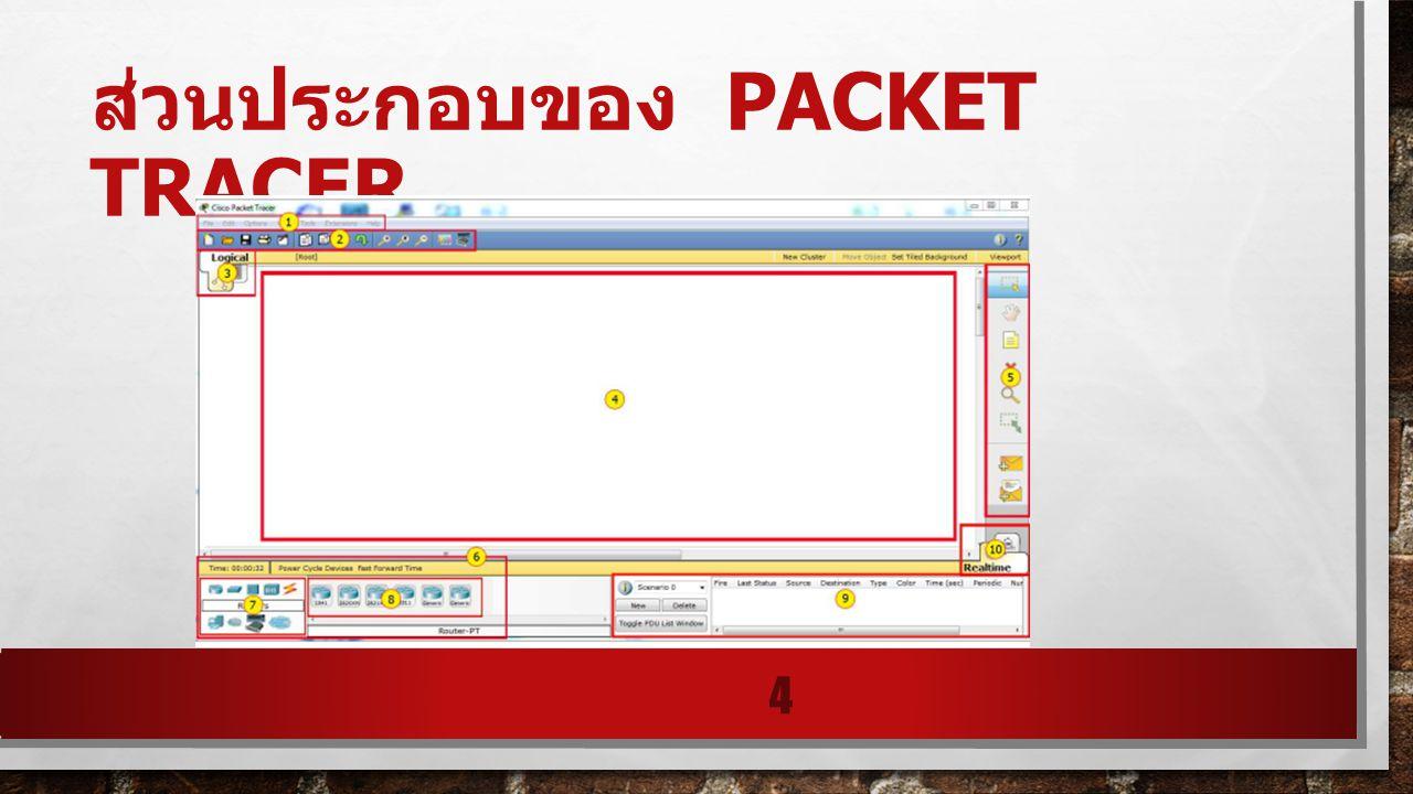 ส่วนประกอบของ packet tracer
