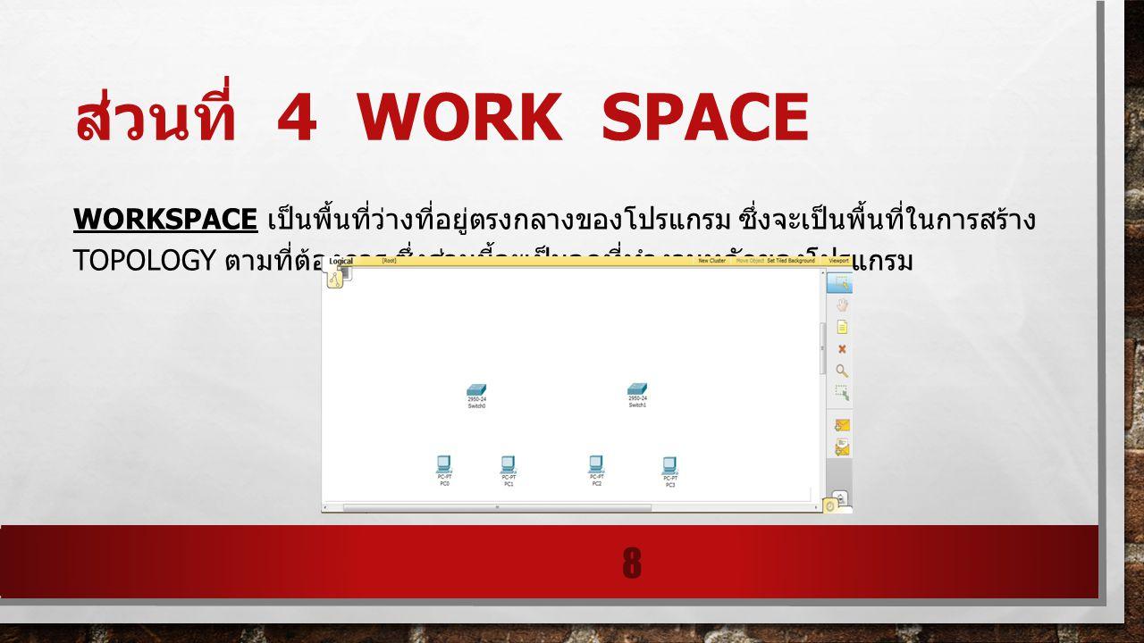 ส่วนที่ 4 work space