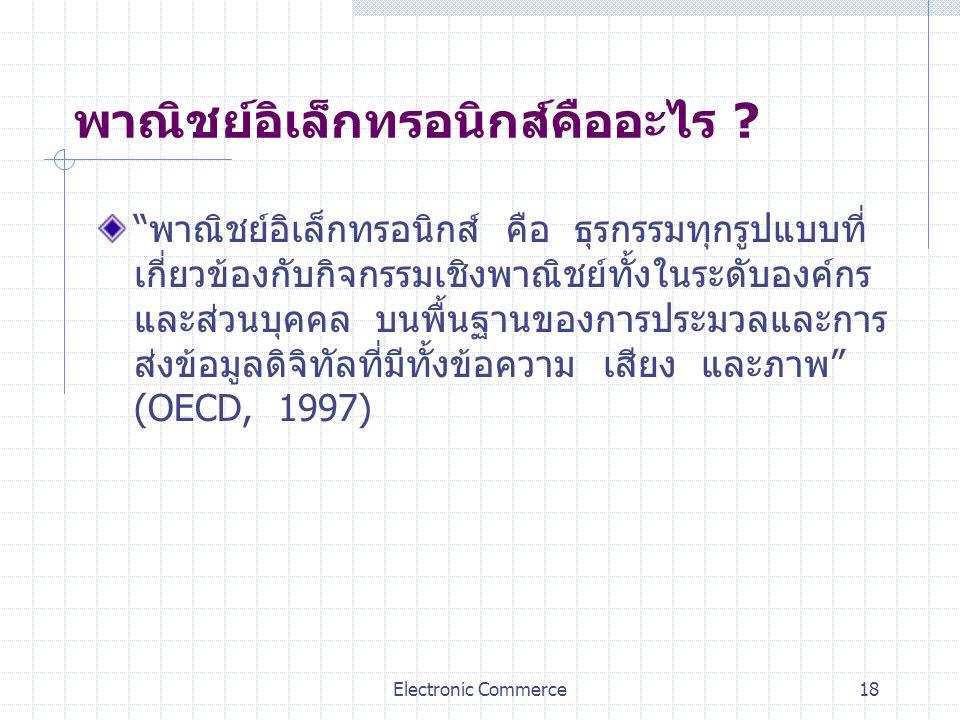 พาณิชย์อิเล็กทรอนิกส์คืออะไร