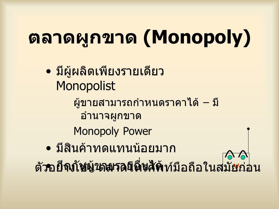 ตลาดผูกขาด (Monopoly)