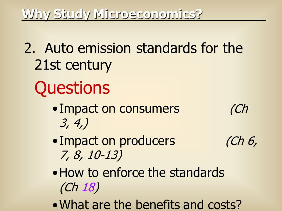 2. Auto emission standards for the 21st century Questions