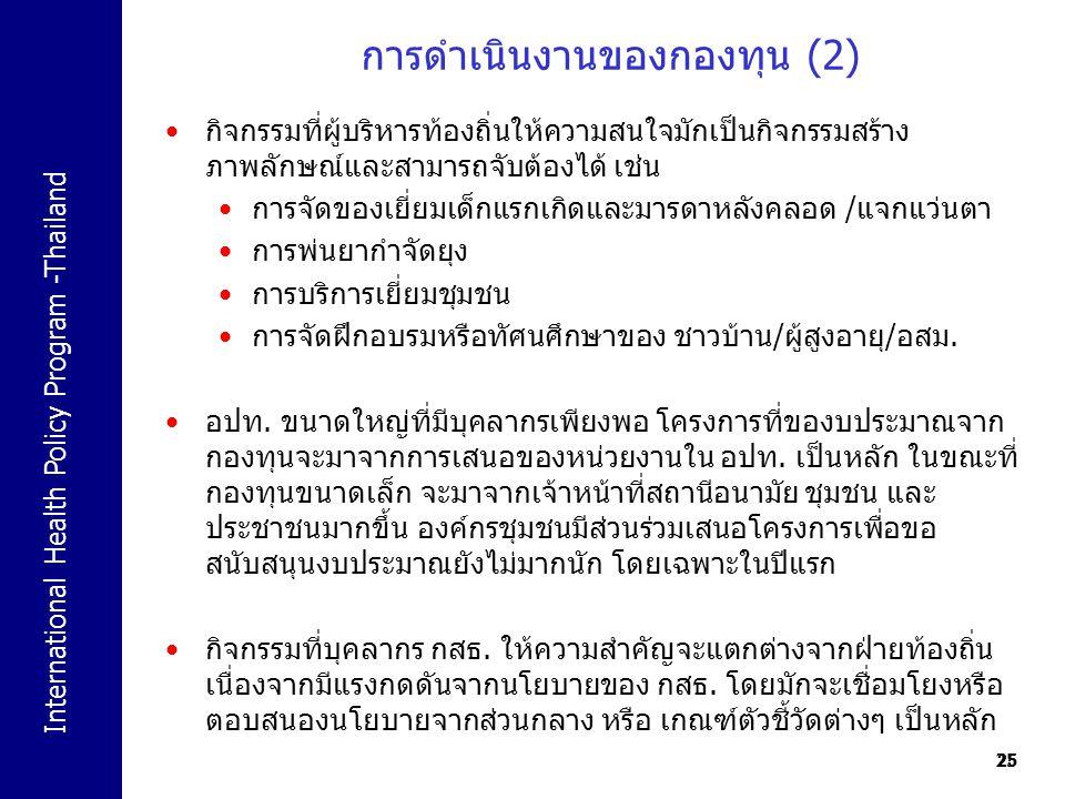 การดำเนินงานของกองทุน (2)