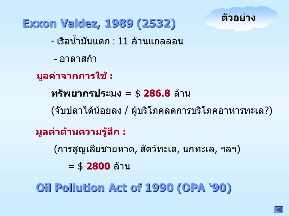 Oil Pollution Act of 1990 (OPA '90)
