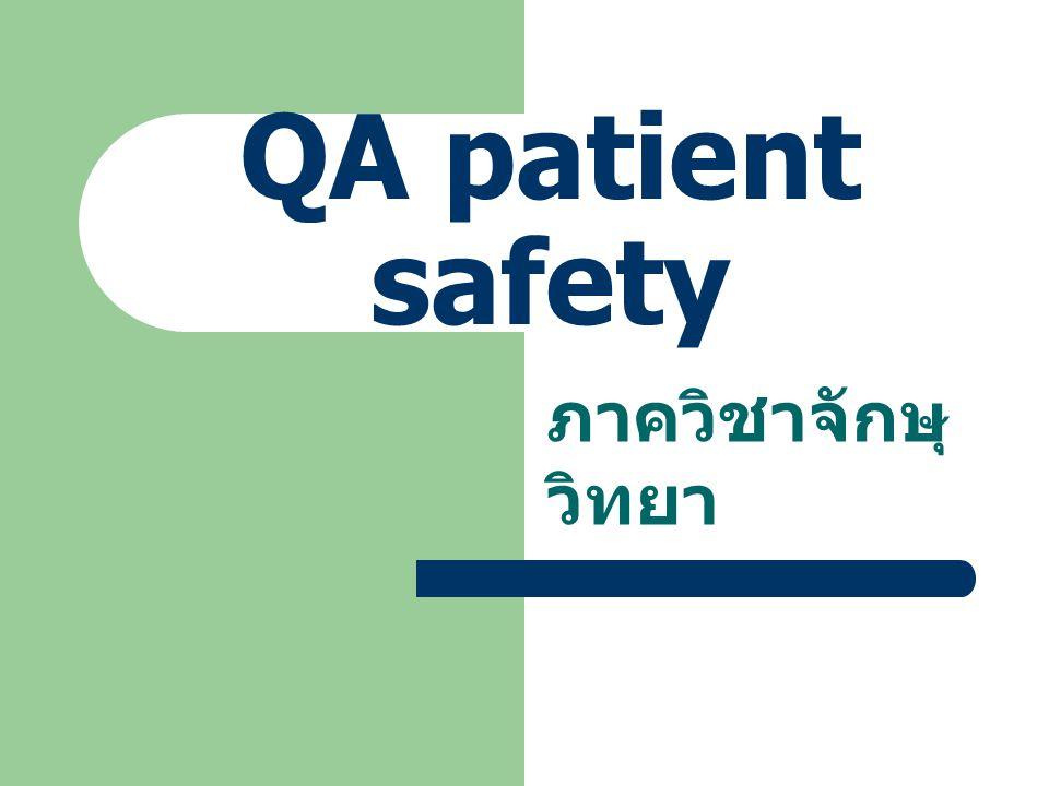 QA patient safety ภาควิชาจักษุวิทยา