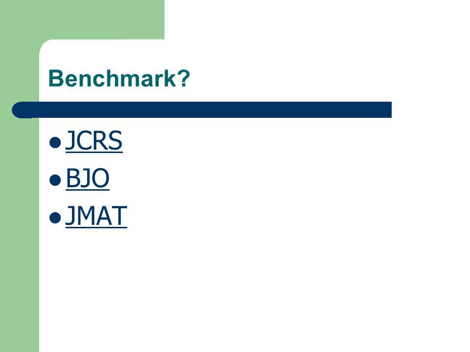 Benchmark JCRS BJO JMAT