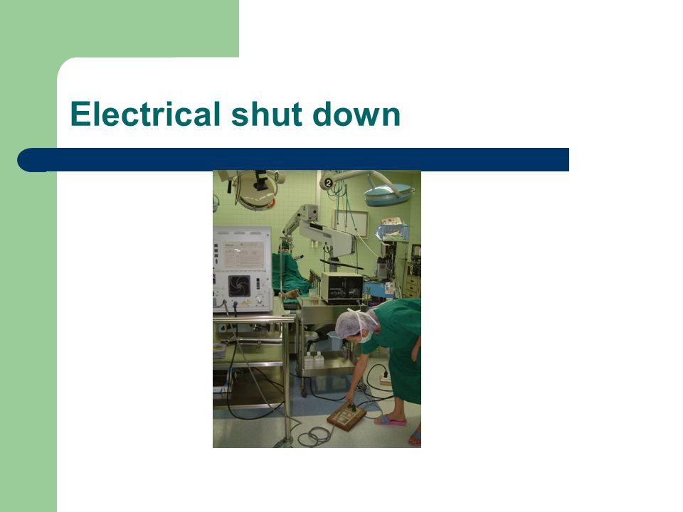 Electrical shut down