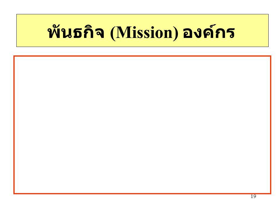 พันธกิจ (Mission) องค์กร