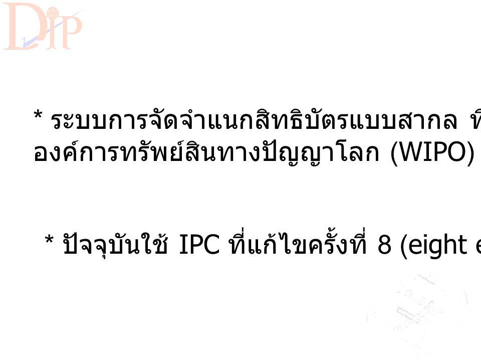 International Patent Classification (IPC)