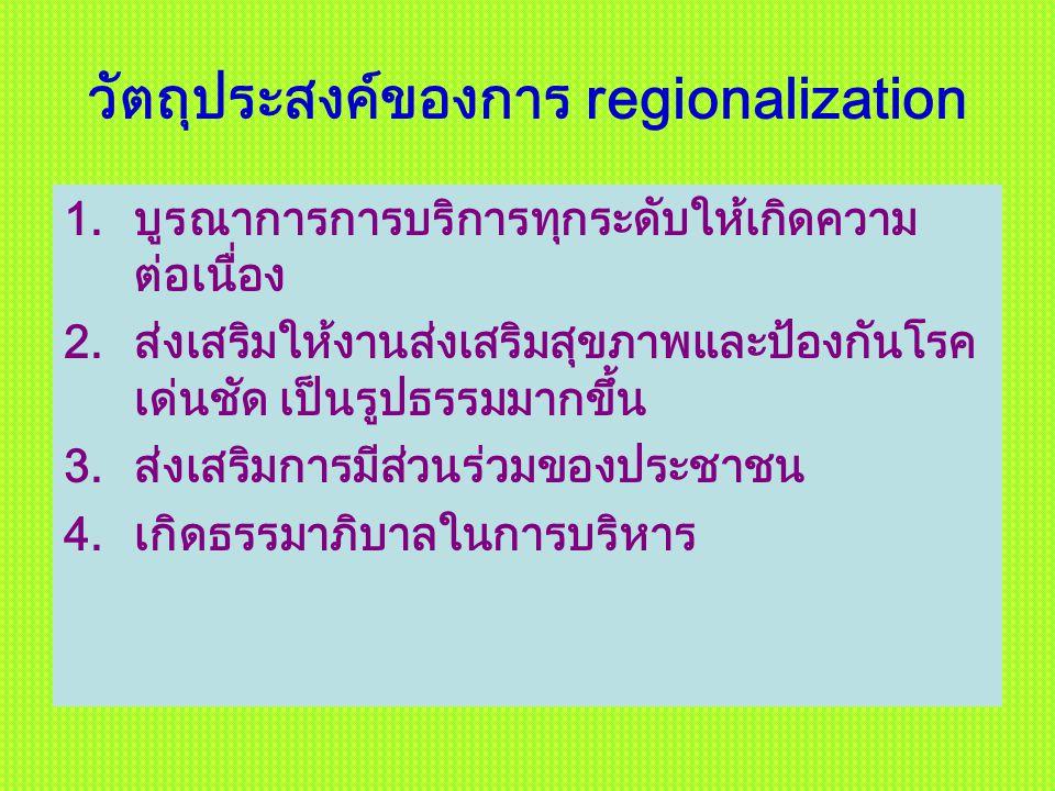 วัตถุประสงค์ของการ regionalization