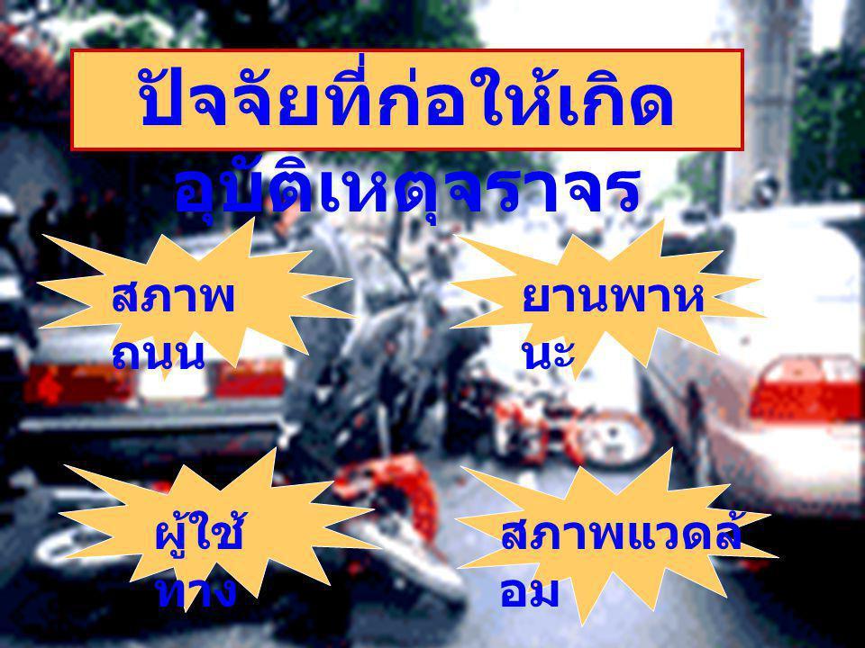 ปัจจัยที่ก่อให้เกิดอุบัติเหตุจราจร