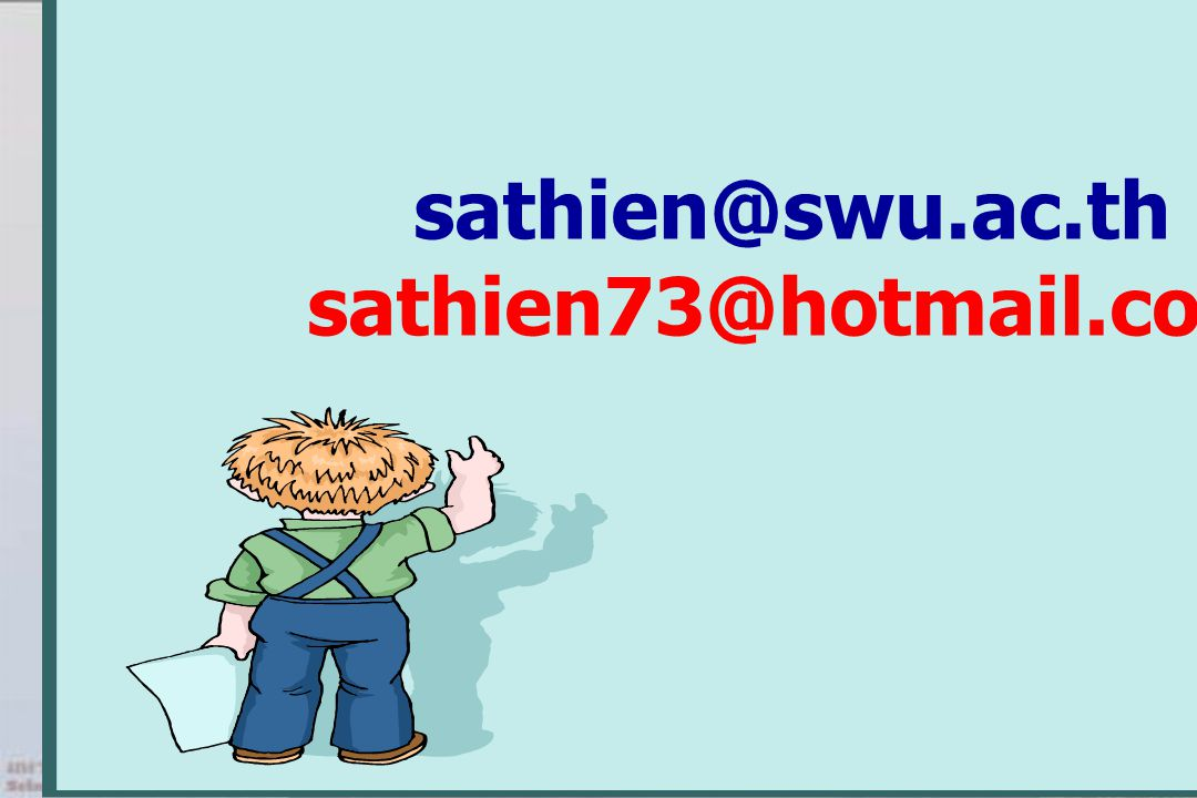 sathien@swu.ac.th sathien73@hotmail.com
