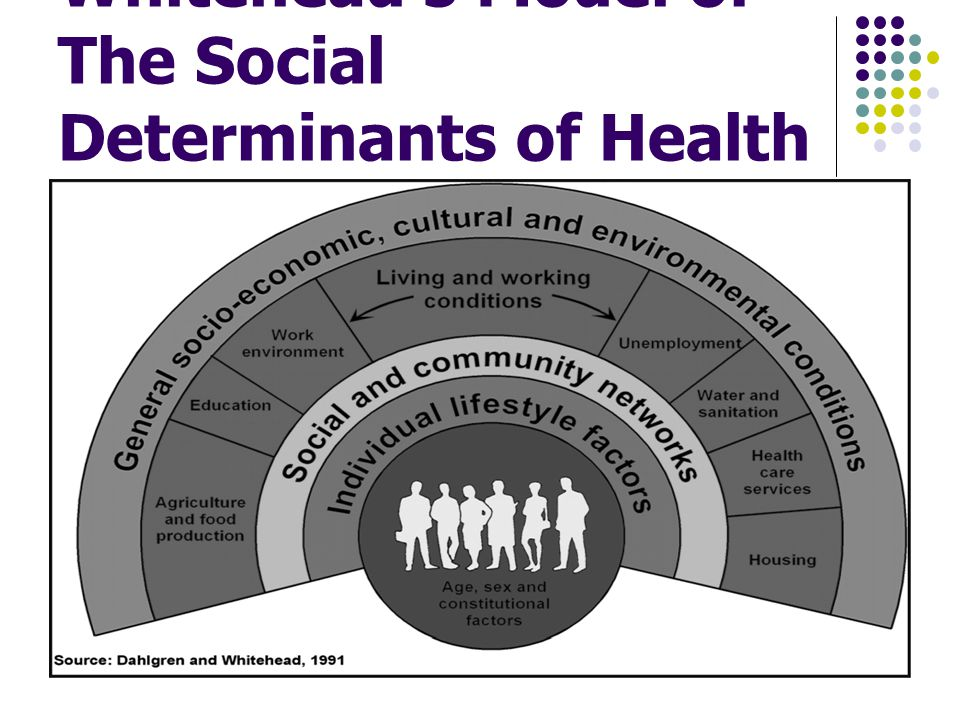 Dahlgren and Whitehead s Model of The Social Determinants of Health