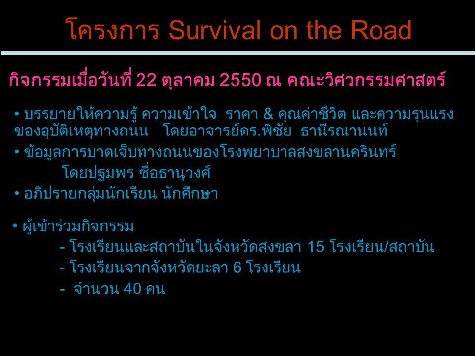 โครงการ Survival on the Road