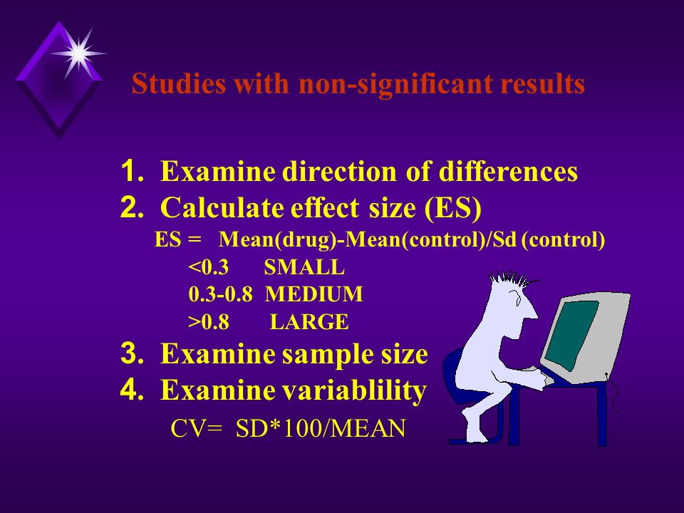 Studies with non-significant results