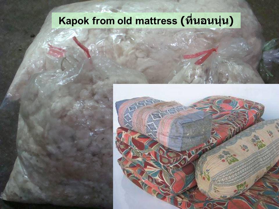 Kapok from old mattress (ที่นอนนุ่น)