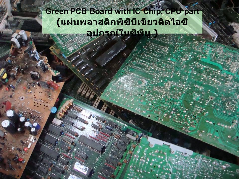 Green PCB Board with IC Chip, CPU part