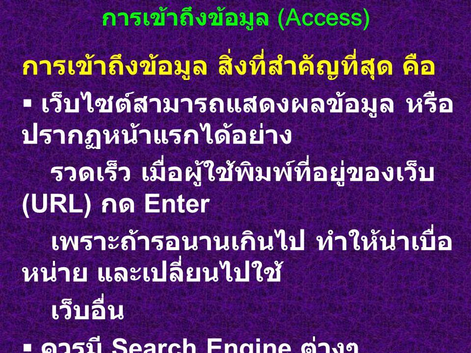 การเข้าถึงข้อมูล (Access)