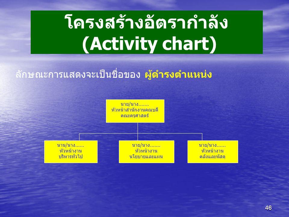 โครงสร้างอัตรากำลัง (Activity chart)
