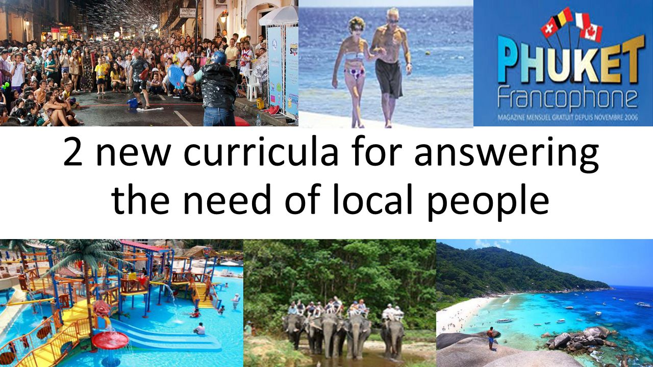 2 new curricula for answering the need of local people