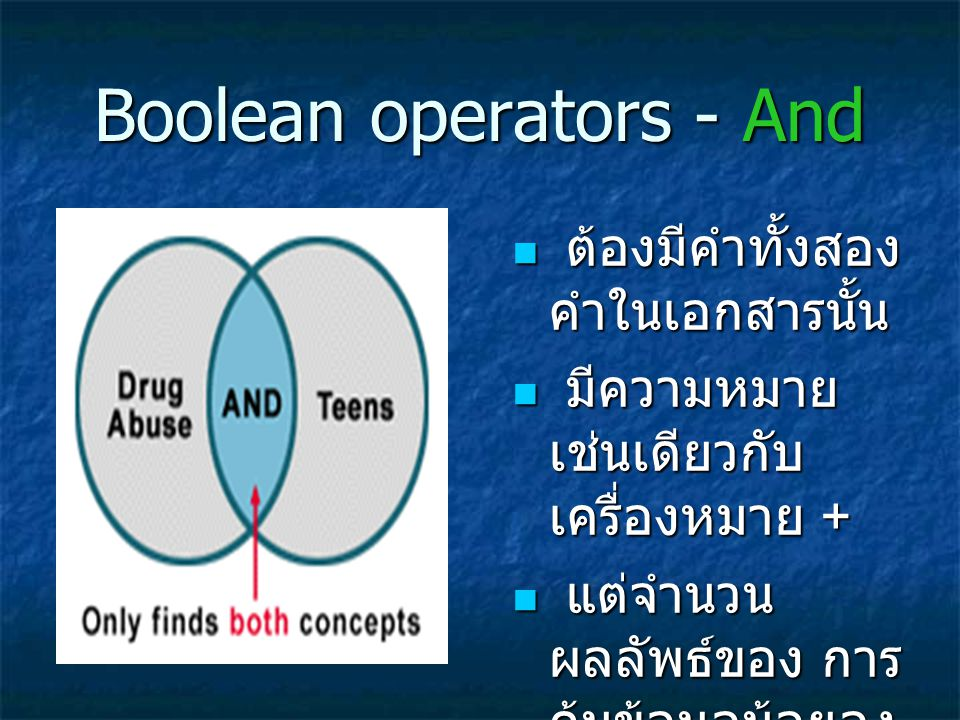 Boolean operators - And