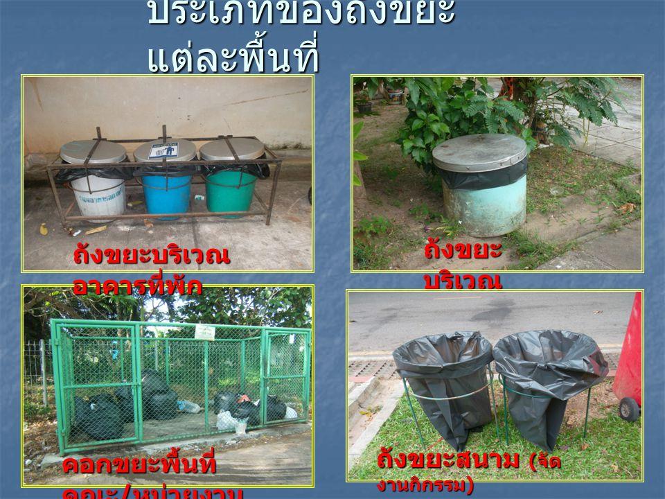 ประเภทของถังขยะแต่ละพื้นที่