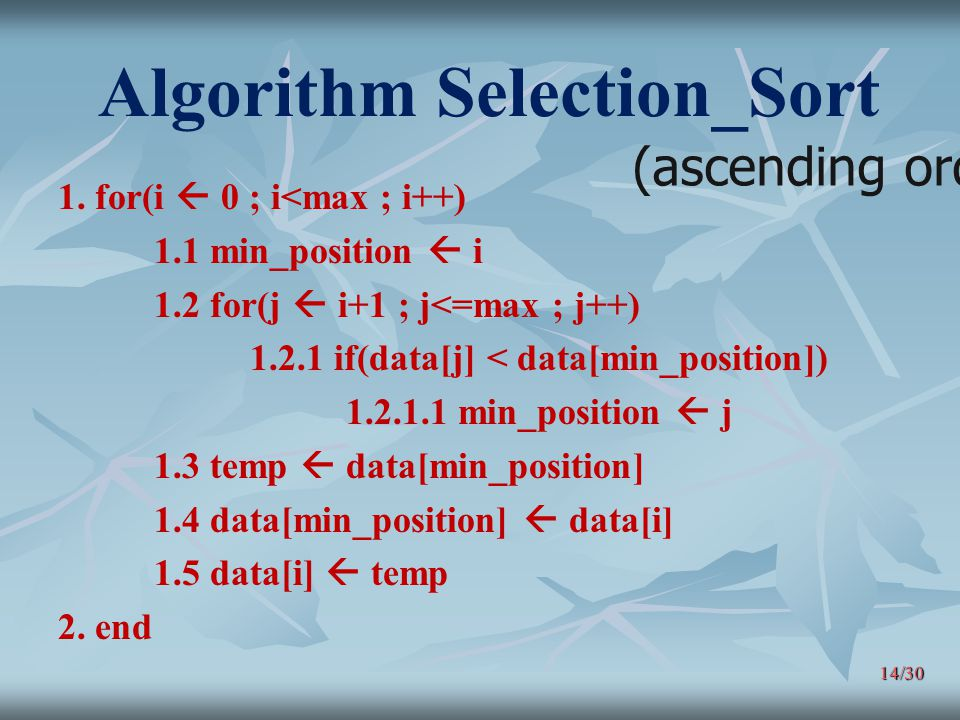 Algorithm Selection_Sort