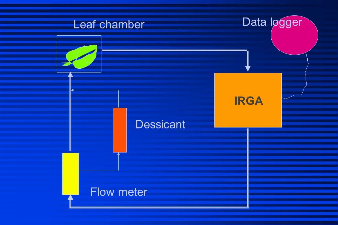 Data logger Leaf chamber IRGA Dessicant Flow meter
