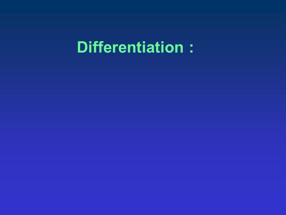 Differentiation :