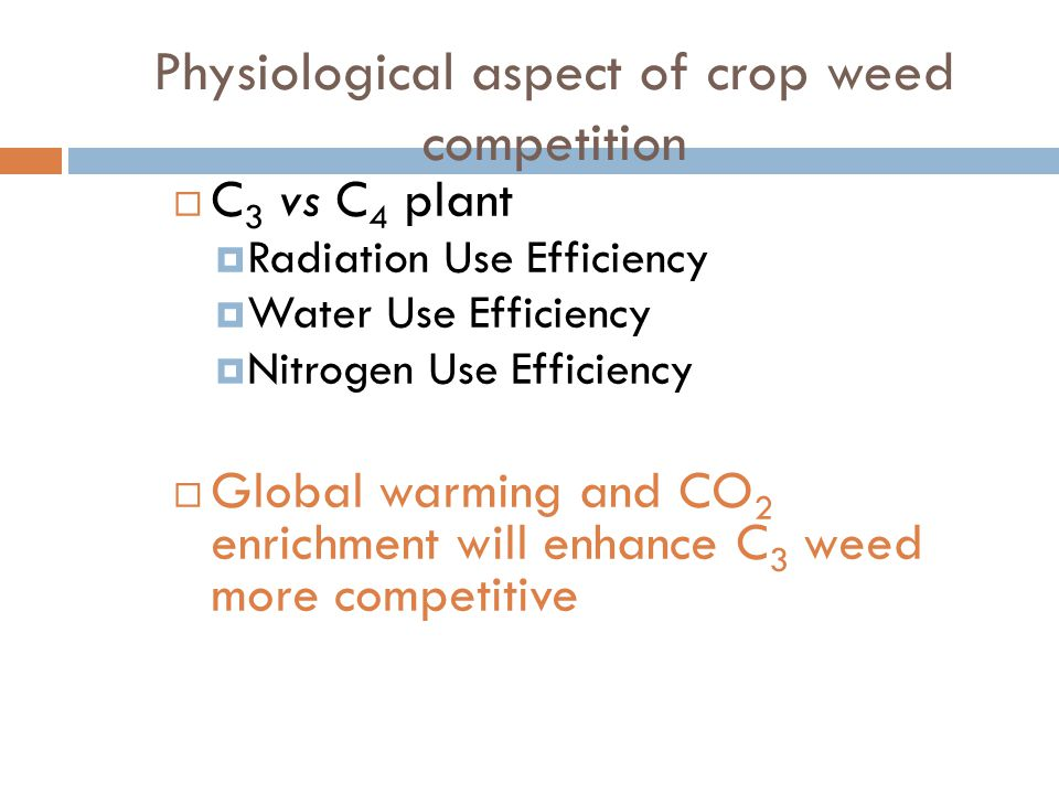 Physiological aspect of crop weed competition