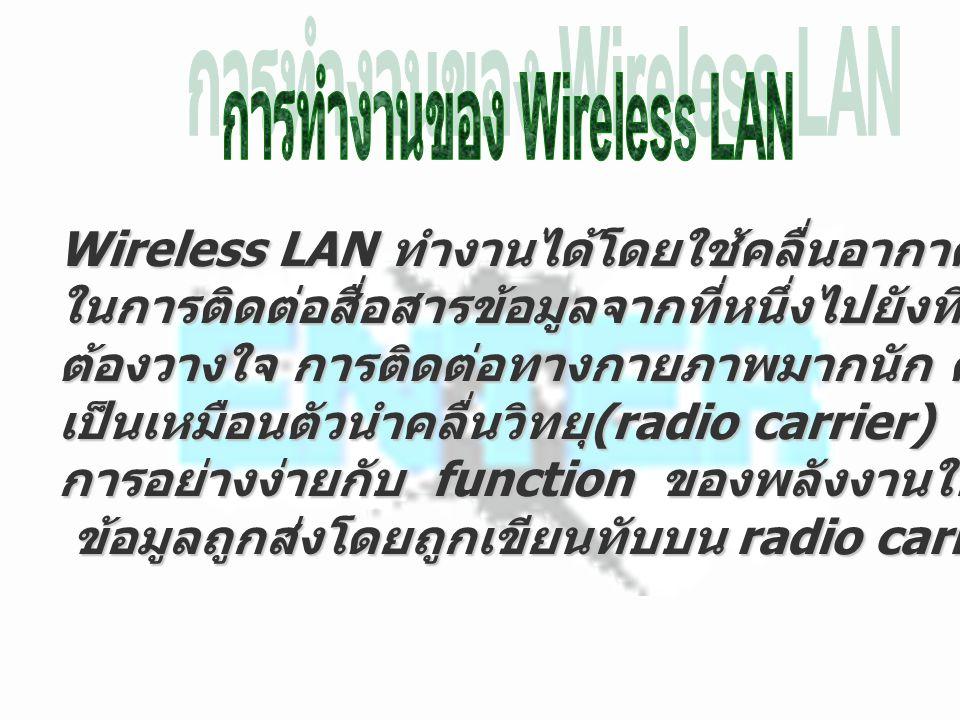 การทำงานของ Wireless LAN