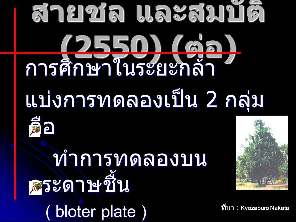 สายชล และสมบัติ (2550) (ต่อ)