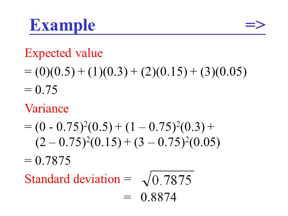 Example => Expected value