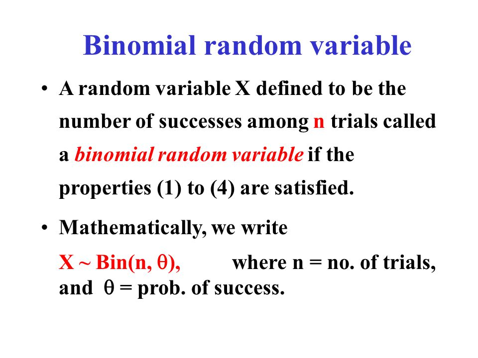 Binomial random variable
