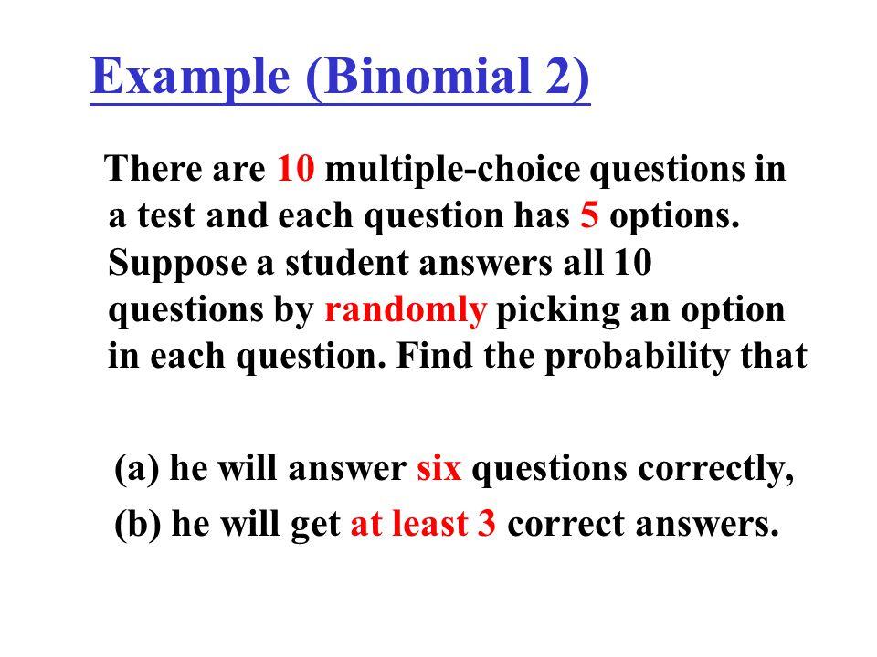 Example (Binomial 2)