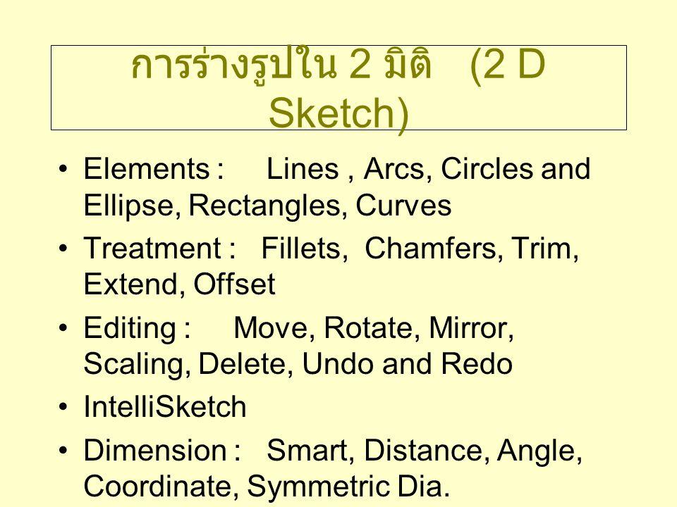 การร่างรูปใน 2 มิติ (2 D Sketch)