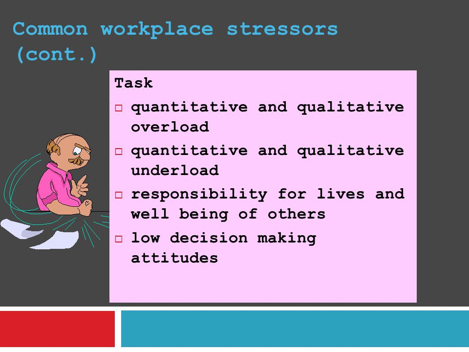 Common workplace stressors (cont.)