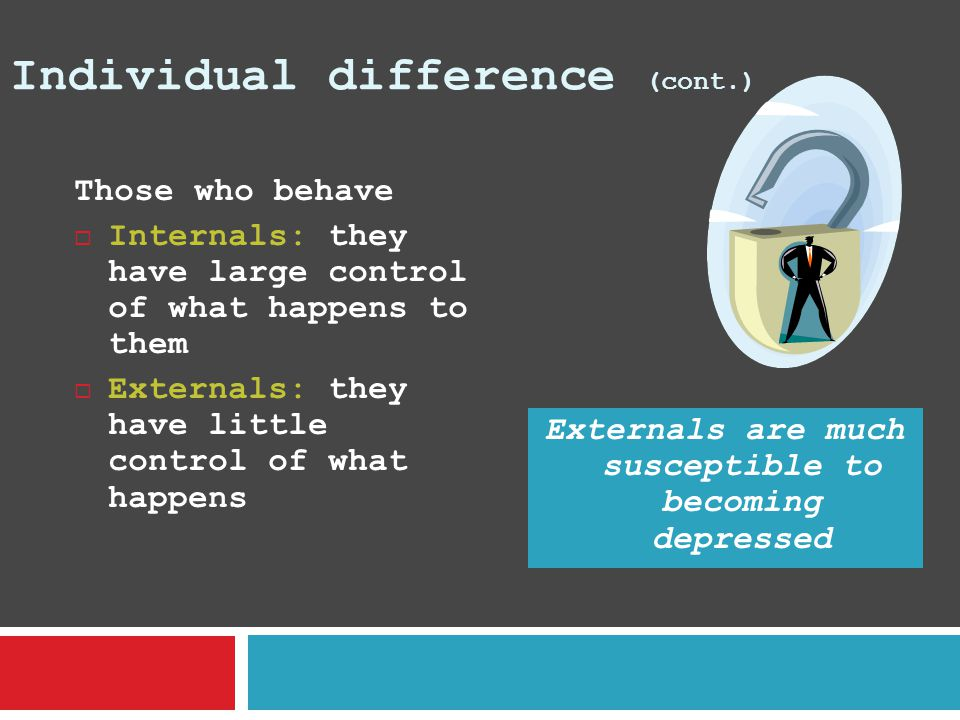 Individual difference (cont.)