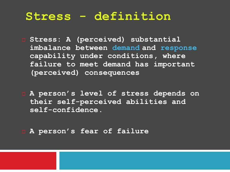 Stress - definition