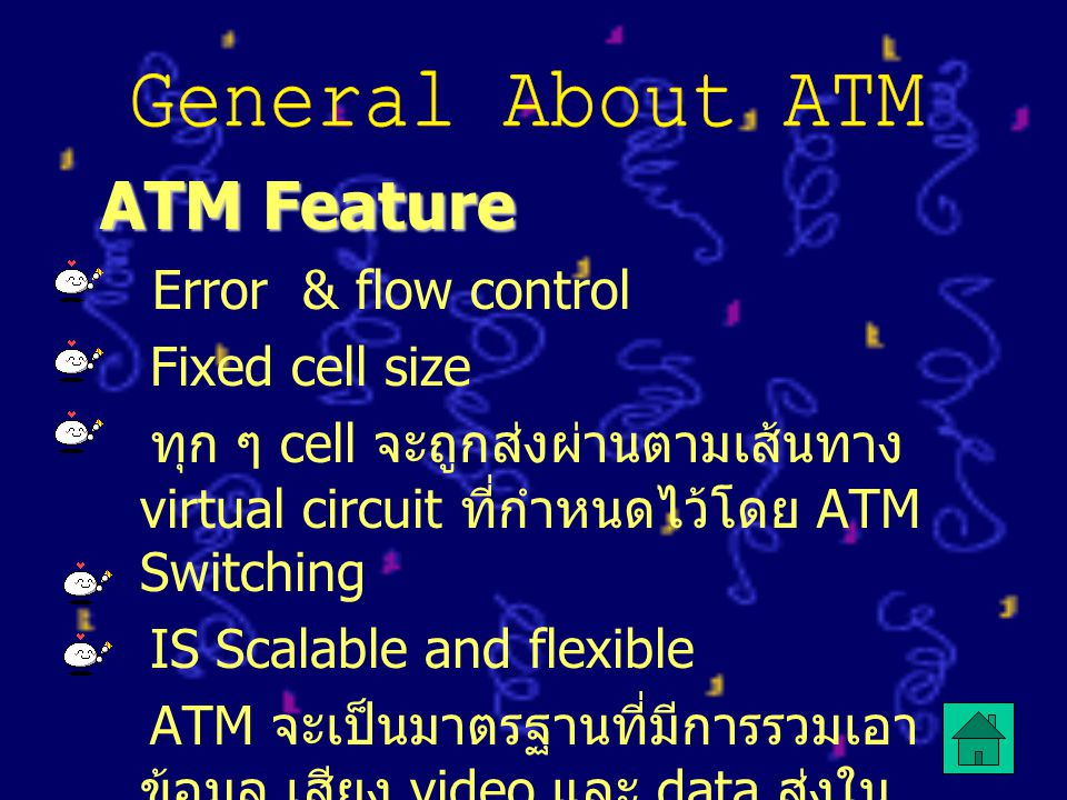 ATM Feature General About ATM Fixed cell size