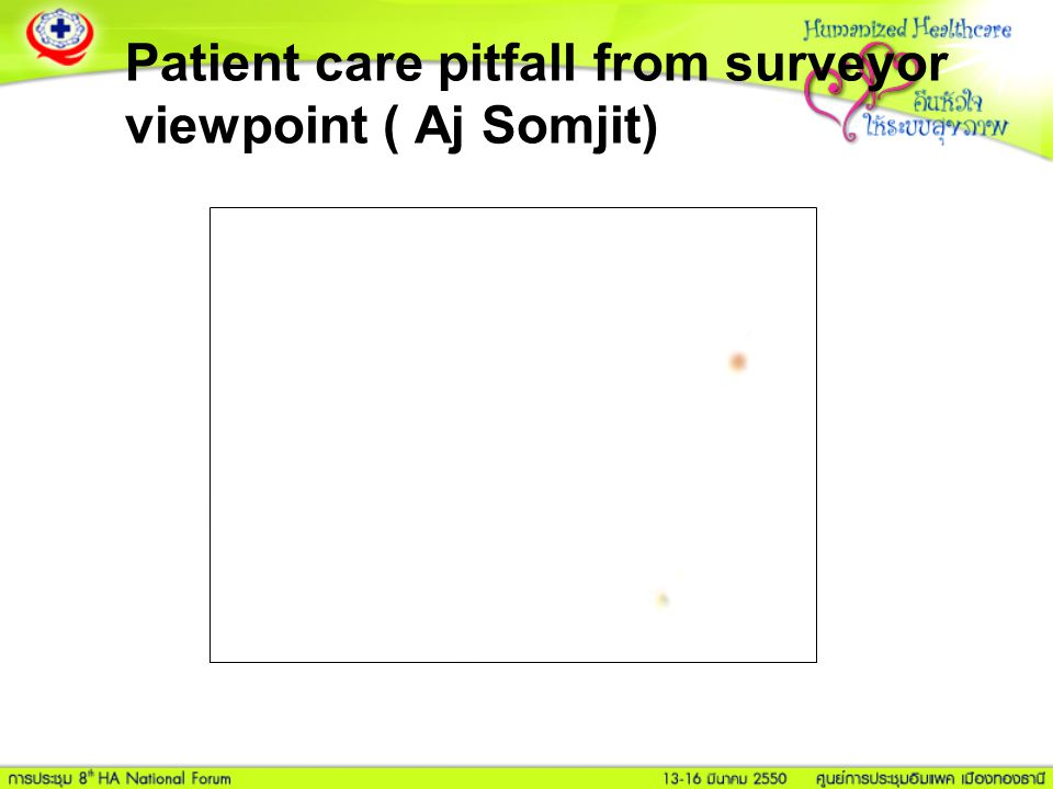 Patient care pitfall from surveyor viewpoint ( Aj Somjit)