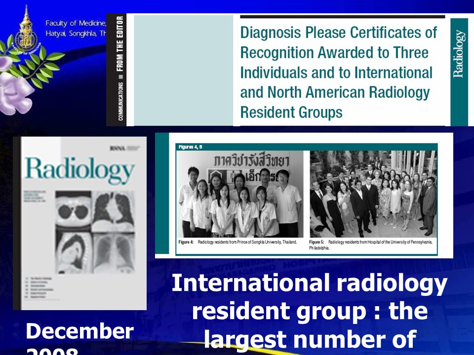 International radiology resident group : the largest number of correct answers for cases 112–132.