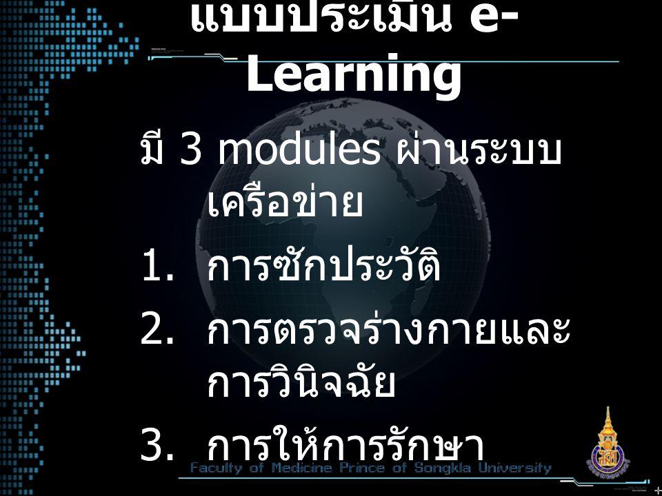แบบประเมิน e-Learning