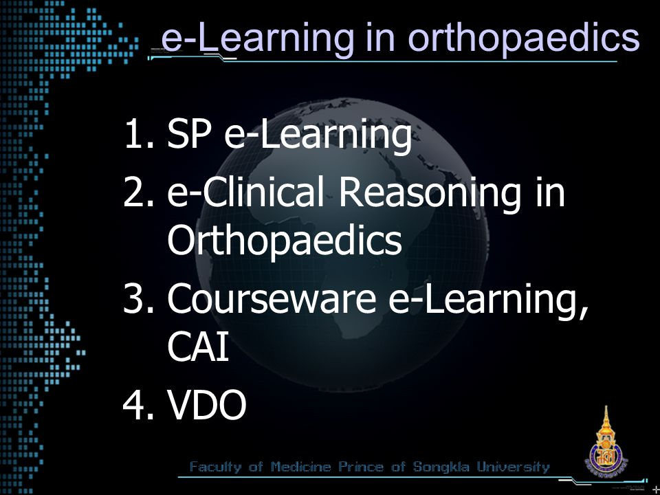 e-Learning in orthopaedics