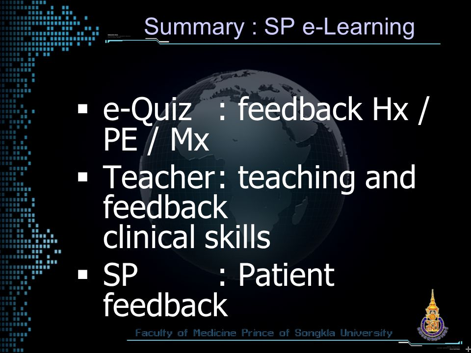 Summary : SP e-Learning