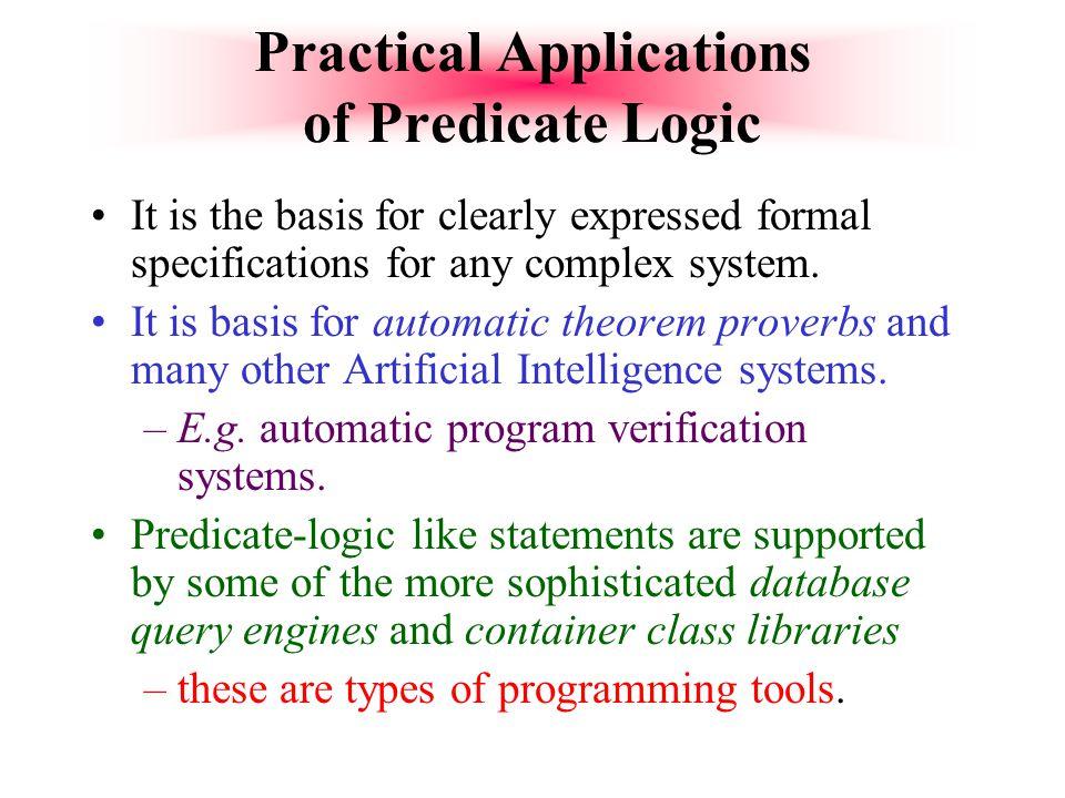 Practical Applications of Predicate Logic