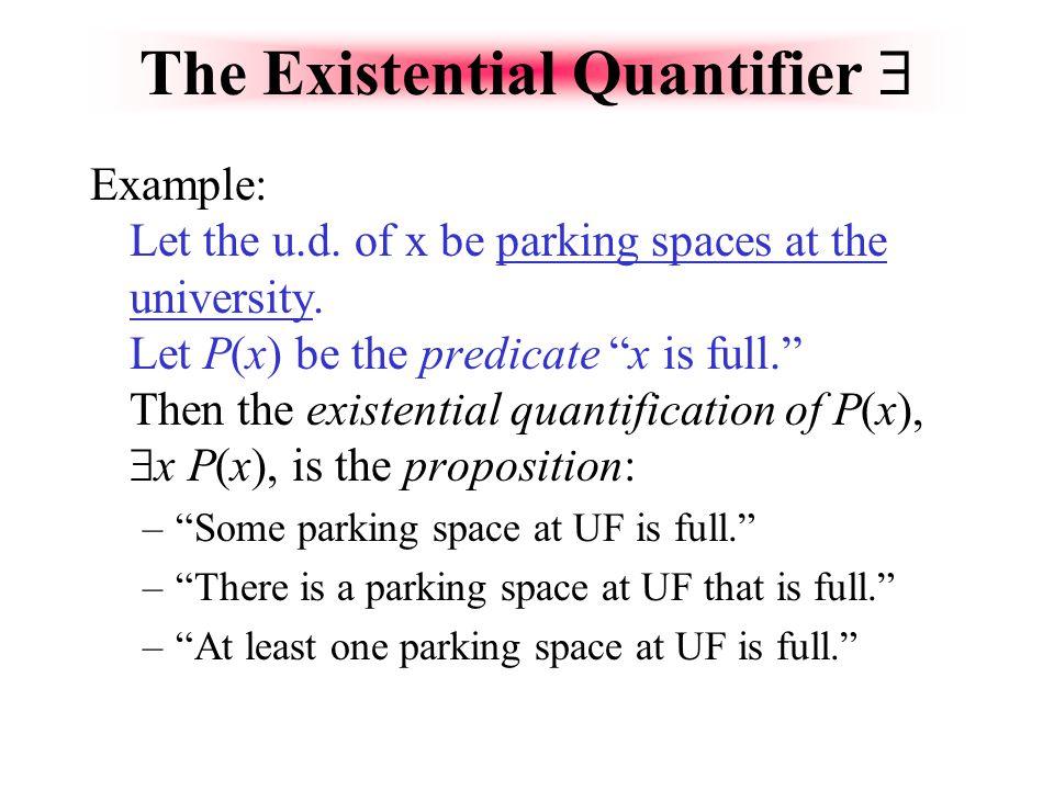 The Existential Quantifier 