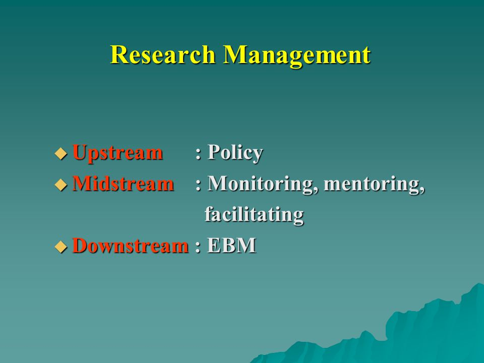 Research Management Upstream : Policy